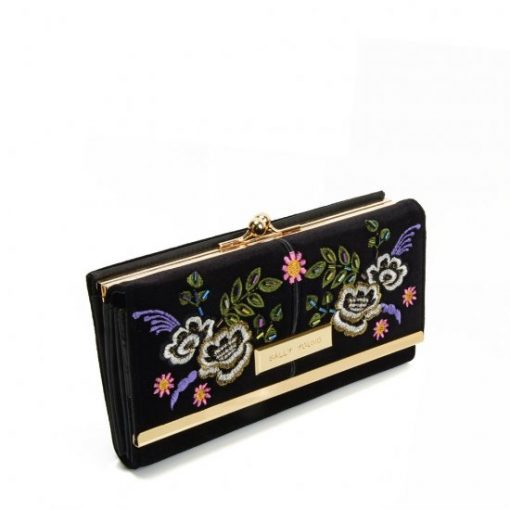 SY5055 BLACK – Retro Wallet With Printing Flower Design