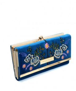 SY5055 BLUE – Retro Wallet With Printing Flower Design