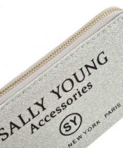 SY5062 SILVER – Long Wallet With Letter Printing