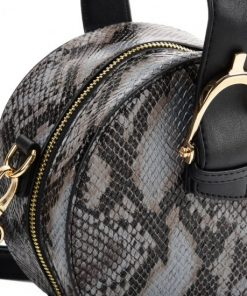Women Tote Bag With Snakeskin Design