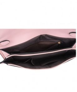 Women Pink Portable Handbag