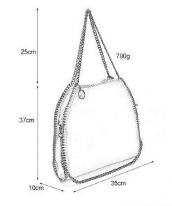 VK5326-2 BLACK – Shoulder Bag With Chain Handel
