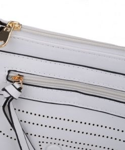 White Cross Body Bag With Strap