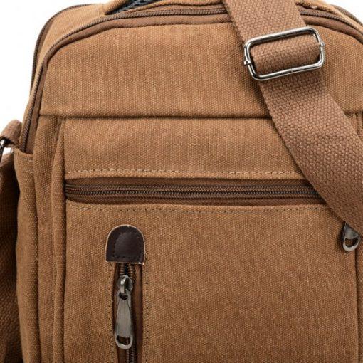VK5491 Brown – Sports Cross Body Bag With Multiple Zipper