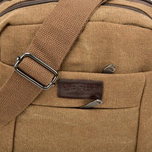 Sports Cross-Body Bag With Multiple Zipper