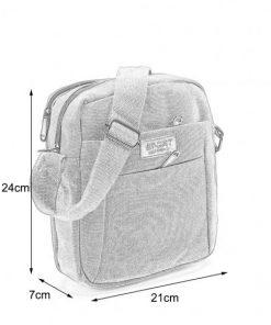 VK5492 Green - Sports Cross Body Bag With Multiple Zipper