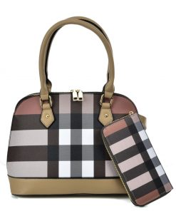 VK5599 APRICOT – Simple Set Bag With Cross Lattice Design
