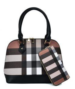 VK5599 BLACK – Simple Set Bag With Cross Lattice Design