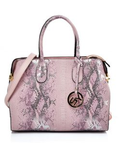 VK5607 PINK – Simple Solid Color Tote Bag With Symmetrical Sequins Pattern Design
