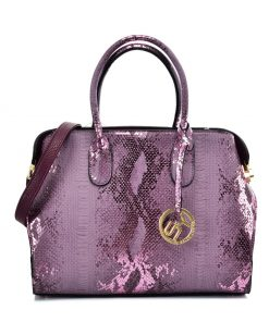 VK5607 PURPLE – Simple Solid Color Tote Bag With Symmetrical Sequins Pattern Design