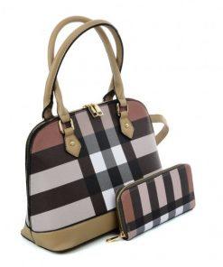 VK5599 APRICOT – Simple Set Bag With Cross Lattice Design