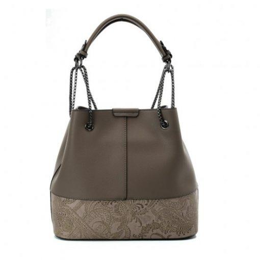 VK5603 KHAKI – Solid Color Set Bag With Symmetrical Design And Special Handles