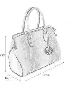 VK5607 PINK – Simple Solid Color Tote Bag With Symmetrical Sequins Pattern Design