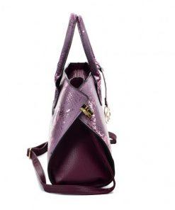 VK5607 PURPLE – Simple Solid Color Tote Bag With Symmetrical Sequins Pattern Design