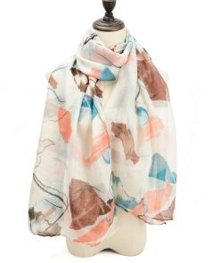 SF1204 BEIGE - Abstract Painting Pattern Scarf For Women