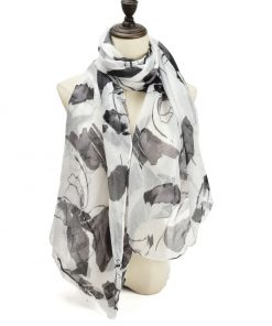 SF1204 BLACK – Abstract Painting Pattern Scarf For Women
