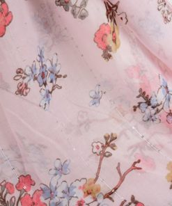 SF1189 PINK – Simple Floral Pattern Scarf For Women